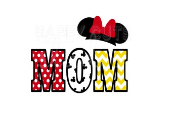 Mom Pregnancy Announcement New Baby Announcement Cheer Mom Family Matching Vacation Minnie Mouse Disney Iron On Decal Vinyl 4 Shirt 013