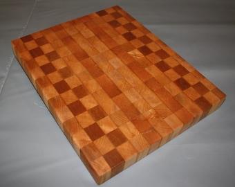 Handcrafted End Grain Maple Cutting Board (16 x 13 x 2)