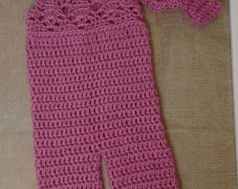 Little Lacy Crocheted Overalls