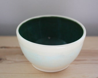 Dark Green Ceramic Bowl – Handmade Pottery Bowl – Soup Bowl – Ice Cream Bowl – Rice Bowl