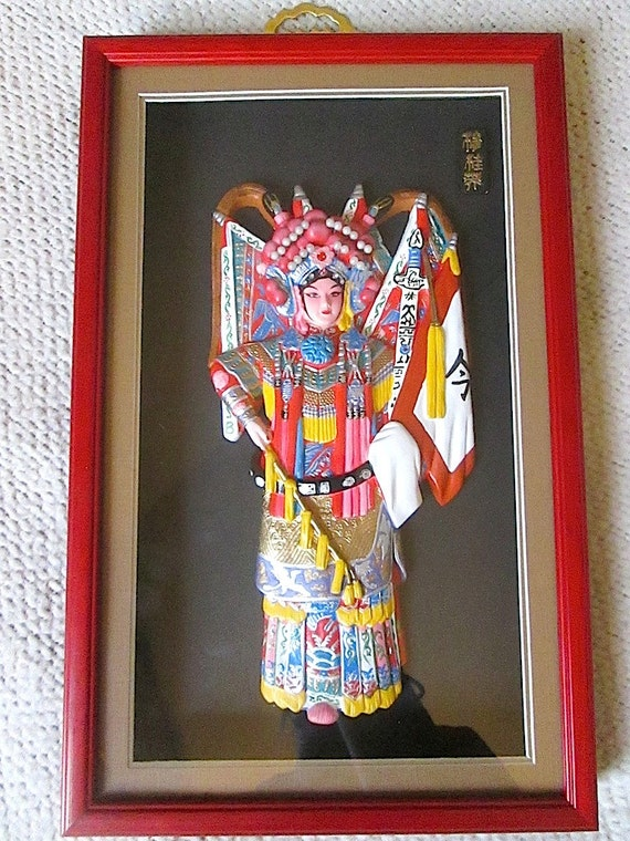 Box Culture : Chinese culture character model art shadow box by