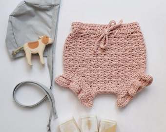 Dusty Pink Ruffle Bloomers