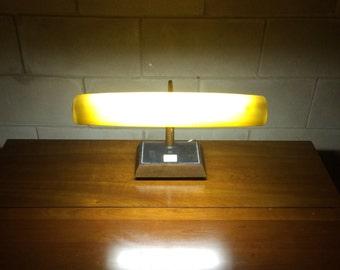 Retro Vintage Gooseneck Desk Lamp with Glowing Shade