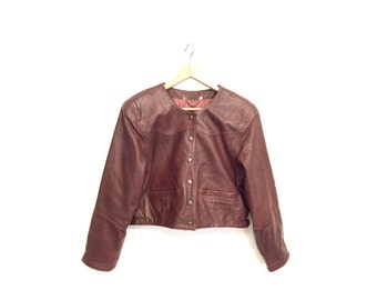 Vintage 80s leather jacket Small