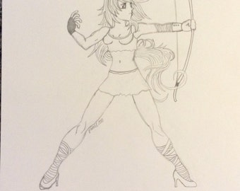 """""""Drawing pencil"""" the Warrior """""""