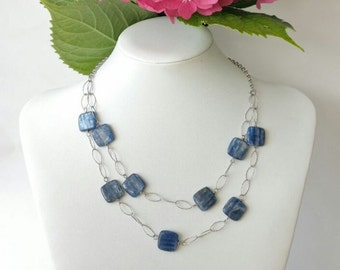 925 silver necklace and kyanite