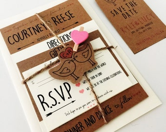 Personalised wedding invitations save the dates