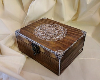 Personalized Handpainted Wooden Box