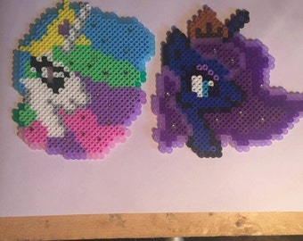 Princess Celestia & Princess Luna Profile - Hama Perler Beads - My Little Pony