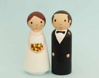 Personalized Wedding Cake Topper - Custom Bride and Groom Cake Topper - Wedding Decor