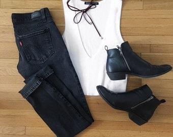 MAISY low waisted black jeans