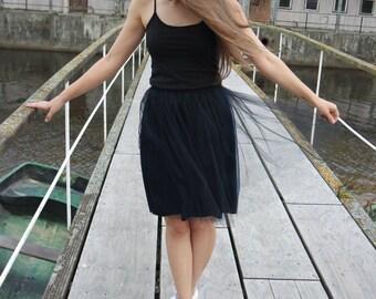 Black tulle skirts Tutu skirts Black mini skirt Handmade