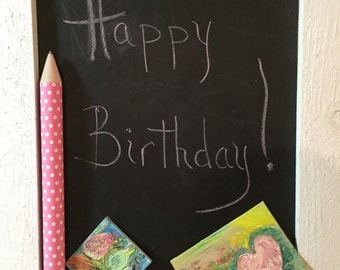 Shabby Chic Chalkboard, perfect for girls' room!
