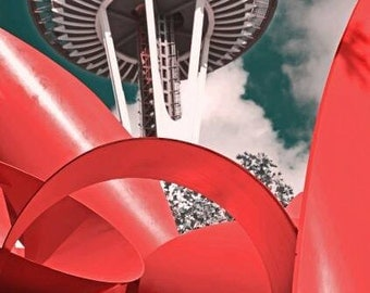 seattle space needle red