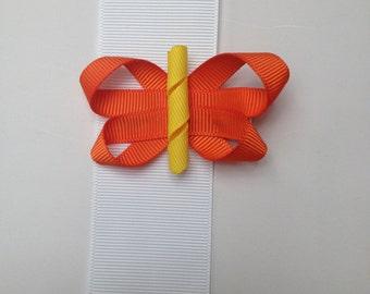 Butterfly Hair Bow on Alligator Clip