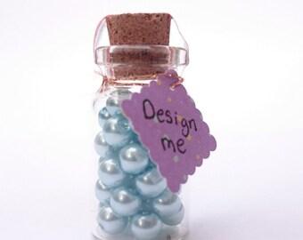 36 Duck egg blue glass beads, jewellery beading supplies