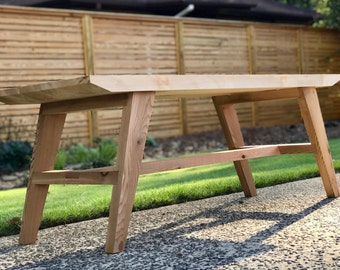 Modern Outdoor Cedar Bench