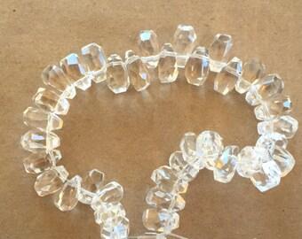 Faceted Rock Crystal Briolettes  (Item # 5354)