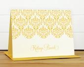 Personalized Stationery Set / Personalized Stationary Set - DAMASK Custom Personalized Note Card Set - Feminine Pretty Teacher Gift