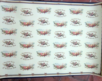 French Label Wrapping Paper by Cavallini - Savons Superfins aux Fleurs & Heliotrope Blanc, J. Giraud Fils to Frame or Paper Art PSS 2820