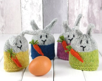 Green Bunny Egg Cosy Mini Knitting Kit, pure wool from Scotland, perfect Mothers Day Gift!
