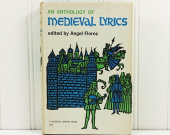 An Anthology of Medieval Lyrics, 1962 Modern Library 330 Stated First Edition Collectible Book