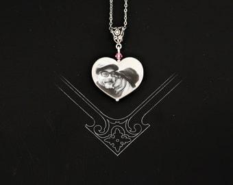 Chrissie photo portrait  tile pendant  ))) fits European style Jewelries (((