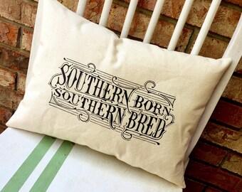 Southern Born, Southern Bred- Alabama, Customizable lyric pillow