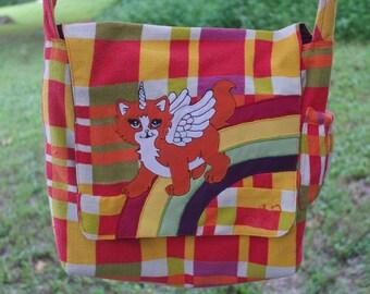 CUSTOM order Made for YOU Shoulder Bag Patchwork Messenger bag Hippie KNOTTYMAMA animal spirit applique Bohemian Purse Festival Bag Kawaii