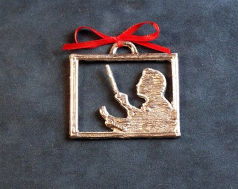 Conductor Pewter Ornament