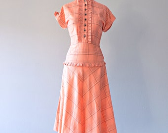 Vintage 1950s Daydress...VICKY VAUGHN Cotton Daydress