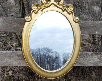 Shabby Chic Mirror / Gold wall Mirror / Baroque Mirror / Hollywood Regency Wall Mirror / Ornate wall Mirror / Nursery Wall Mirror /