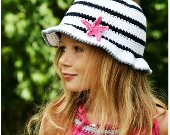 Crochet Pattern, Crochet Sun Hat Pattern, The Starfish Sun Hat Crochet Pattern, Crochet Hat Pattern, Sun Hat Pattern, Crochet Hat Pattern