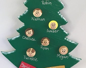 Personalized Family Christmas Tree Ornament Large by ...
