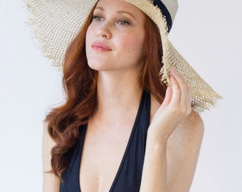 Straw, Floppy Hat, Sun, Beach Hat, Wide Brim, Elizabeth Hat