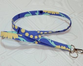 Lanyard - Fabric Lanyard - Teacher Lanyard  - Periwinkle Blue