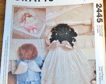 "McCalls 2445 Little Angels Kneeling Standing Doll 22"" Boy 24"" Girl Clothes Pillow Blanket Faye WIne Craft Sewing Pattern Uncut Factory Folds"