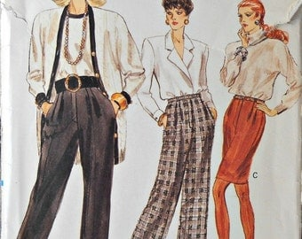 Very Easy Very Vogue Pants and Skirt Pattern, Sizes 6, 8, 10, Vintage 1988
