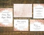 Rose Gold Foil Wedding Invitation Suite (Set of 25) | Wedding Invitation Set, Wedding Invitations, Blush, Gold, Invitation