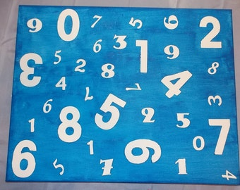 Number Canvas Wall Hanging