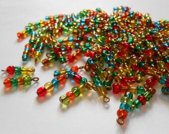 Multi-Color 4Bead Glass Dangles