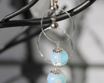Moonlight Silver Hoop Earrings