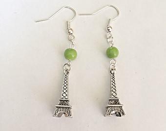 Eiffel Tower Earrings - France Earrings - Paris Earrings - Dangly Earrings - France Jewelry - Eiffel Tower - Landmark Jewelry - Gift For Her