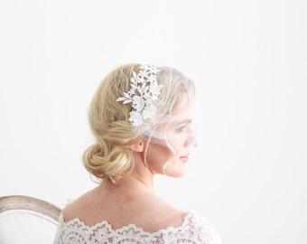 White Lace Veil Bridal Wedding Accessories
