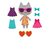 Sunny Collection - Magnetic Accessory Set for My Fashion Cat / Cat / Cat Doll / Stocking Stuffer / Girl's Toy