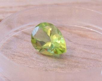 Peridot Pear Cut 1.82 Carat Natural Loose Gemstone, Jewelry Supply