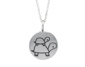 Father and Son Necklace -  Turtle Necklace - Dad Necklace