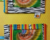 Fun Identification Tags for Kids ID Tagrrific™ Tags Use on Backpack Luggage School Lunchbox Instrument Equipment Ballet Zebra Stripe