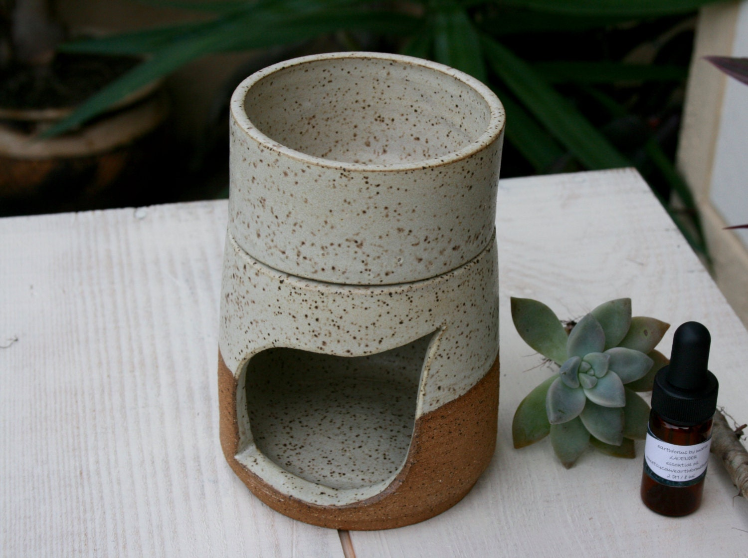 Ceramic Oil Burner ~ Aromatherapy oil burner handmade ceramic by earthformsbymarie