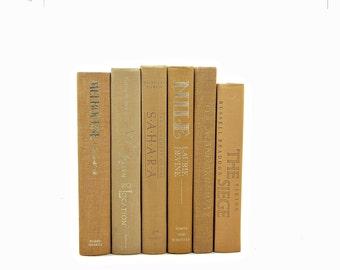 Earth Tones Decorative Books, Old Books, Brown ORange Book Decor, Book Collection, Book Stack, Photo Props, Book Collection Vintage Book Set